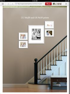 Stair picture layout