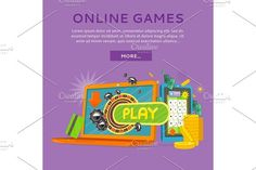 Online Casino on Tablet Computer and Laptop by robuart on @creativemarket