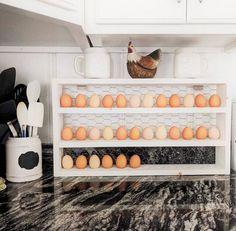 Chicken Coop Plans, Diy Chicken Coop, Chicken Life, Chicken Eggs, Egg Storage, Wood Display, Counter Display, Egg Holder, Mini Farm