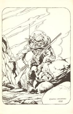 Berni Wrightson Color Monsters Pages (Extended Length) | Notes From Pellucidar 5 (SCROLL DOWN)