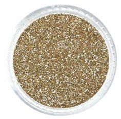 "Platinum Gold .008"" Fine Glitter Powder – Solvent Resistant Glitter from Glitties Nail Art Online Store #solvent #resistant #glitter"