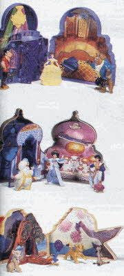 Disney Playsets From The 1990s-- I totally forgot that I had the Beauty and the Beast version of this!