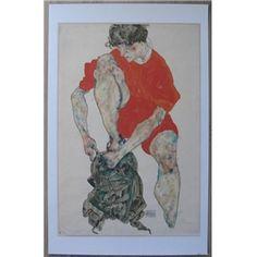 Egon Schiele # FEMALE BRIGHT RED JACKET # Kallir 1593, mint