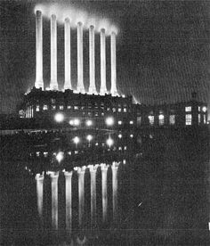 Detroit Edison's Seven Sisters smokestacks at night. Old Pictures, Old Photos, Detroit Vs Everybody, Detroit History, State Of Michigan, Metro Detroit, Motown, Great Lakes, Sisters