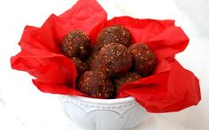 Goji Berry and Hazelnut Cacao Truffles