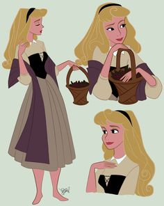 Aurora is my favorite princess design, so I wanted to practice drawing her. These are all drawn from screencaps of the movie, so don't give me so much credit lol. Aurora (c) Disney