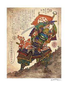 Teenage Mutant Samurai Turtle by Chet Phillips