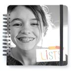 List Journal by Paper Coterie.  Easy to DIY if you want to, and a really fun idea - list things your child is currently in to (with their help).