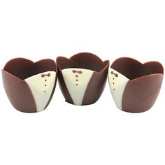 "Kane Candy ""Tuxedo"" White & Dark Chocolate Cups - Pack of 6"