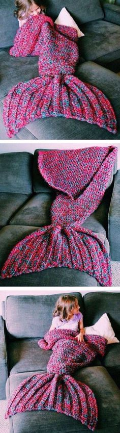 Cute mermaid tail blanket!