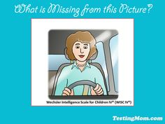 Can your child identify what is missing?  #‎WISC‬ ‪#‎wechsler‬ ‪#‎practice‬ ‪#‎test‬ ‪#‎problem‬ ‪#‎question‬ ‪#‎kids‬ ‪#‎second‬ ‪#‎grade‬  Answer: seatbelt