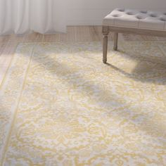 Found it at Wayfair - Montelimar Ivory/Gold Area Rug