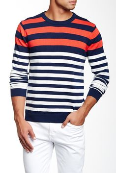 Contrast Striped Sweater Sponsored by Nordstrom Rack.