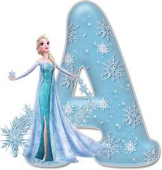 Alfabeto Decorativo: Alfabeto - Frozen - PNG - Letras - Maiúsculas - DOWNLOAD.