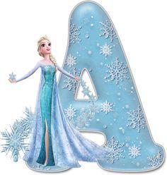 Alfabeto Decorativo: Alfabeto - Frozen - PNG - Letras - Maiúsculas - DOWNLOAD.