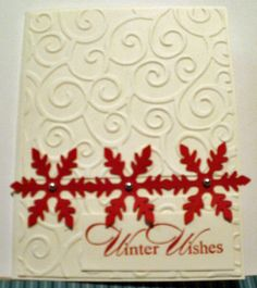 Red Snowflakes by jeanstamping2 - Cards and Paper Crafts at Splitcoaststampers