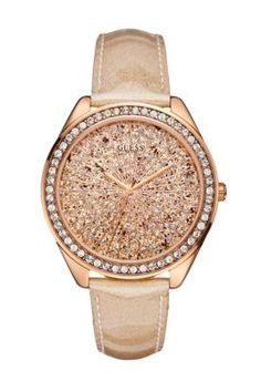 Women's GUESS Watches: Shop GUESS watches for women | GUESS Rose Gold-Tone Extra Dazzling Sport Watch  $95.00  Style: #U0155L1