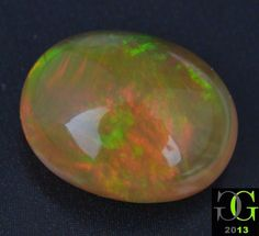 100% Natural 4.01 Ct Red Green Fire Ethiopian Opal Oval Cabochon Gemstone GGM623