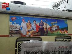 Recently we done campaign for SAB TV Chanel external panel on Mumbai local trains.