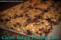 {Bad Kitty in the Kitchen}: Clean-Eating Protein Bars