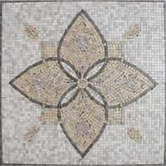 MS International Floral Blend Medallion 24 in. x 24 in. Tumbled Marble Mesh Mounted Mosaic Tile-SMOT-MED-MA3-2424 at The Home Depot