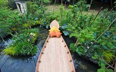 viking cruises mekong garden at Chelsea - Google Search Chelsea Garden, Garden Show, Chelsea Flower Show, Decoration, Garden Bridge, Surfboard, Outdoor Structures, Flowers, Plants