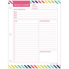 Project Planner Notepad by whitneyenglish on Etsy