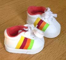 Rainbow tennis sneakers - American Girl Doll Shoes and lots of other shoes available for a reasonable price