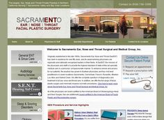 http://www.sacent.com/ Sacramento Ear, Nose and Throat Facial Plastic Surgery over fifty years, and its award winning physicians are regionally and nationally recognized leaders in their fields.