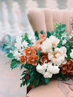 Garden wedding bouquet: Photography : Jon Cu Read More on SMP: http://www.stylemepretty.com/2016/08/10/ranchos-las-lomas-wedding-inspiration/
