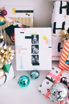 Put cute/funny pics of you and your friend on their gift. #wrappingideas