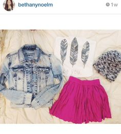 Bethany Mota outfit from Aero! Teen fashion Teen fashion Cute Dress! Clothes Casual Outift for • teenes • movies • girls • women •. summer • fall • spring • winter • outfit ideas • dates • school • parties mint cute sexy ethnic skirt