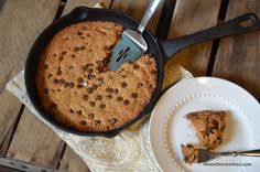Make chocolate chip cookies right in your skillet with this recipe.