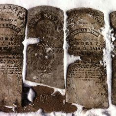 Gravestones in the snow