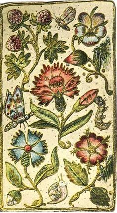 Embroidered book cover, 1630's