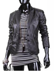 Marynarka skórzana damska DORJAN PLA830 Blond, Leather Jacket, Jackets, Fashion, Fotografia, Studded Leather Jacket, Down Jackets, Moda, Leather Jackets