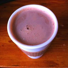 """Homemade """"Dunkachino"""": Approx 8 oz coffee, mine is freshly ground and pressed, with about 5-6oz heated milk (1min then stir and repeat once to prevent the skin) with a packet of hot chocolate mixed in. Mix the hot chocolate into the coffee and enjoy:)"""