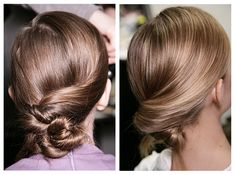 Twist -Another easy hairstyle, take sections of hair, twist and pin in place. I wanna try this...