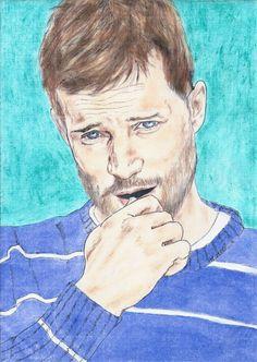 Jamie Dornan portrait by Vanessafari. Source: vanessafari.com #JamieDornan #PaulSpector #TheFall