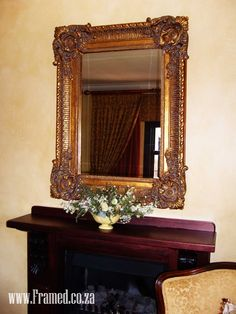 Ornate mirror to complete the lounge.