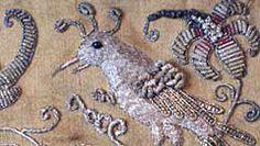 17th century textile. Metallic Needlework - click for more details