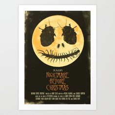 Nightmare Before Christmas - Movie Poster Art Print by Joel Amat Güell