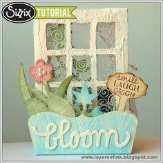 Sizzix Die Cutting Tutorial: Window Box by Anna-Karin Evaldsson - inspiration