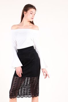 Exquisite Lace Skirt (Black)  $32