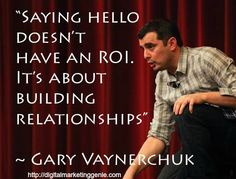 Social Media is about your relationships with your customers and prospects. Social Media Quote by Gary Vaynerchuk Internet Marketing, Online Marketing, Social Media Marketing, Marketing Communications, Content Marketing, Digital Marketing, Gary Vaynerchuk, Social Media Quotes, Social Media Tips