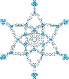 Beaded star diagram how-to