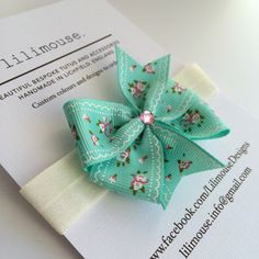 Easter gift alternative go chocolate free for your little girls girls easter gift mint and pink headband soft ivory elastic with grosgrain mint pink vintage negle Images