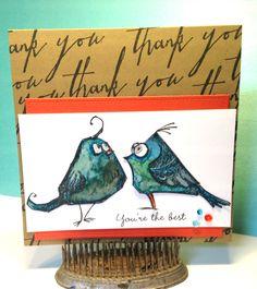 Tim Holtz Bird Crazy Cards | A Place for Me Scraplog