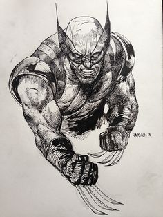 Wolverine Sketch by dogmeatsausage on DeviantArt Wolverine Art, Logan Wolverine, Wolverine Cosplay, Marvel Xmen, Marvel Comics Art, Skeleton Drawings, Comic Villains, Western Comics, Comic Kunst