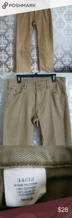 Mens Polo Ralph Lauren Khaki Colored Jeans Men's size 34x32 khaki colored jeans from Polo Ralph Lauren.  Relaxed fit and in excellent condition. Polo by Ralph Lauren Jeans Relaxed